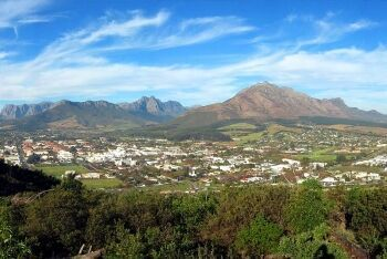 Panorama of Stellenbosch, seen from Papegaaiberg